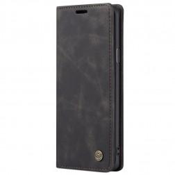 """""""CaseMe"""" Retro solīds atvēramais ādas maciņš - melns (Galaxy S8+)"""