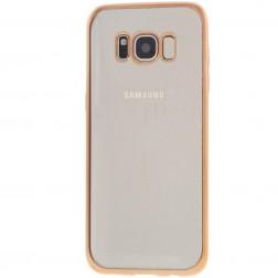 Cieta silikona (TPU) dzidrs apvalks - zelta (Galaxy S8+)