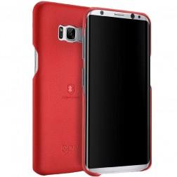 """Lenuo"" Soft Slim ādas apvalks - sarkans (Galaxy S8+)"