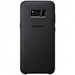 """Samsung"" Alcantara  Cover apvalks - melns (Galaxy S8+)"