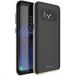 """""""IPAKY"""" cieta silikona (TPU) apvalks - melns / zelta (Galaxy S8+)"""