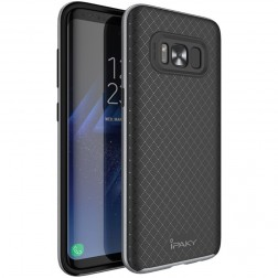 """IPAKY"" cieta silikona (TPU) apvalks - melns / peleks (Galaxy S8+)"