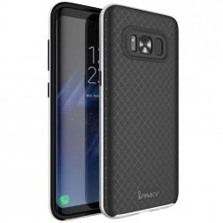 """IPAKY"" cieta silikona (TPU) apvalks - melns / sudrabs (Galaxy S8+)"