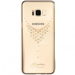 """""""Kingxbar"""" Necklace Swarovski apvalks - zelta (Galaxy S8+)"""
