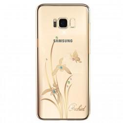 """Kingxbar"" Orchid Swarovski apvalks - zelta (Galaxy S8+)"