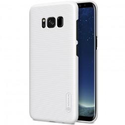 """Nillkin"" Frosted Shield apvalks - balts + ekrāna aizsargplēve (Galaxy S8+)"