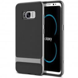 """""""Rock"""" Royce apvalks - melns apmales pelekā krāsā (Galaxy S8+)"""