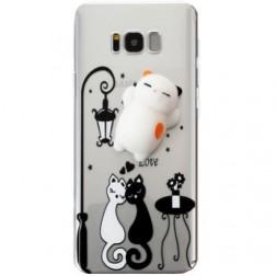 """""""Squezy"""" Cat cieta silikona (TPU) apvalks - dzidrs (Galaxy S8+)"""