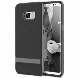 """""""Rock"""" Royce apvalks - melns apmales pelekā krāsā (Galaxy S8)"""