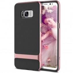 """Rock"" Royce apvalks - melns apmales rozā krāsā (Galaxy S8)"