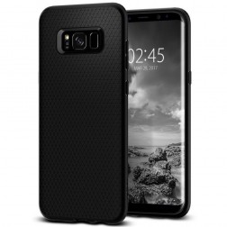 """""""Spigen"""" Liquid Air apvalks - melns (Galaxy S8)"""
