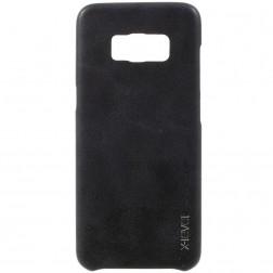 """""""X-Level"""" Vintage ādas apvalks - melns (Galaxy S8+)"""