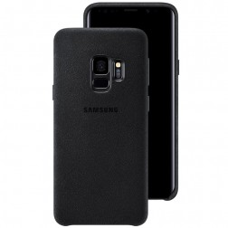 """Samsung"" Alcantara  Cover apvalks - melns (Galaxy S9)"