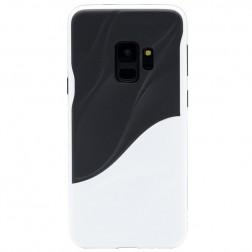 """3D"" Wave Pattern apvalks - melns / balts (Galaxy S9)"