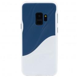 """""""3D"""" Wave Pattern apvalks - zils / balts (Galaxy S9)"""