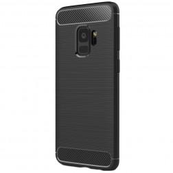 """Carbon"" cieta silikona (TPU) apvalks - melns (Galaxy S9)"