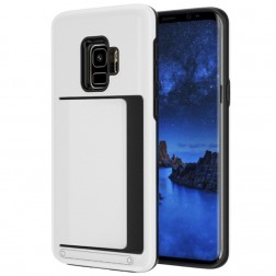 """Combo"" Card Holder apvalks - balts (Galaxy S9)"