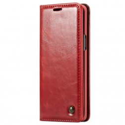 """""""CaseMe"""" solīds atvēramais ādas maciņš - sarkans (Galaxy S9)"""