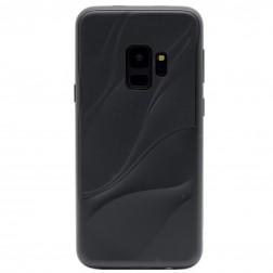 """3D"" Wave Pattern apvalks - melns (Galaxy S9)"
