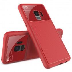 """Lenuo"" Lens apvalks - sarkans (Galaxy S9)"