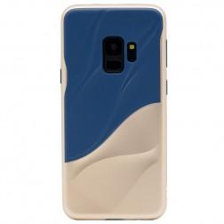 """""""3D"""" Wave Pattern apvalks - zils / zelta (Galaxy S9)"""