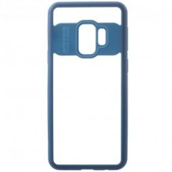 """""""FOCUS"""" apvalks - dzidrs apmales zilā krāsā (Galaxy S9)"""