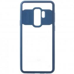 """""""FOCUS"""" apvalks - dzidrs apmales zilā krāsā (Galaxy S9+)"""