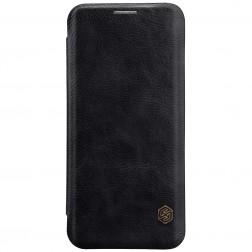 """Nillkin"" Qin atvēramais maciņš - melns (Galaxy S9)"