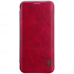 """Nillkin"" Qin atvēramais maciņš - sarkans (Galaxy S9)"