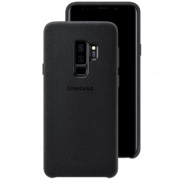 """Samsung"" Alcantara  Cover apvalks - melns (Galaxy S9+)"