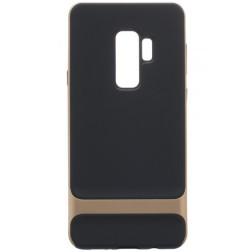 """Rock"" Royce apvalks - melns apmales zeltā krāsā (Galaxy S9+)"