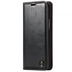 """""""CaseMe"""" solīds atvēramais ādas maciņš - melns (Galaxy S9+)"""