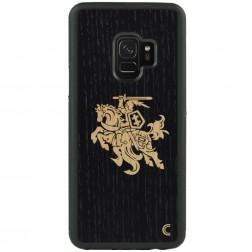 """""""Crafted Cover"""" dabīga koka apvalks - Melns Vytis (Galaxy S9)"""
