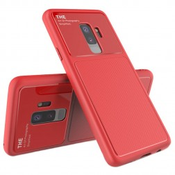 """Lenuo"" Lens apvalks - sarkans (Galaxy S9+)"