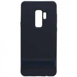 """""""Rock"""" Royce apvalks - melns apmales zilā krāsā (Galaxy S9+)"""