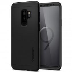 """""""Spigen"""" Thin Fit 360 futrālis - melns + ekrāna aizsargstikls (Galaxy S9+)"""