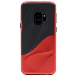 """3D"" Wave Pattern apvalks - melns / sarkans (Galaxy S9)"
