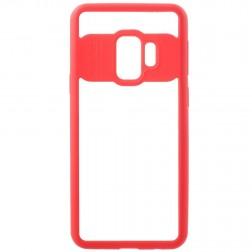 """""""FOCUS"""" apvalks - dzidrs apmales sarkanā krāsā (Galaxy S9)"""