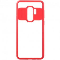 """""""FOCUS"""" apvalks - dzidrs apmales sarkanā krāsā (Galaxy S9+)"""