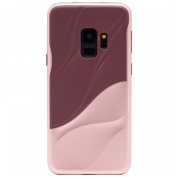 """3D"" Wave Pattern apvalks - bordo / rozs (Galaxy S9)"