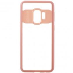 """""""FOCUS"""" apvalks - dzidrs apmales rozā krāsā (Galaxy S9)"""