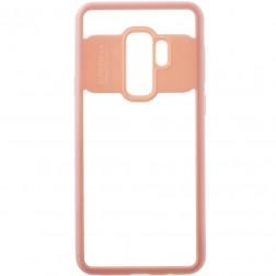"""""""FOCUS"""" apvalks - dzidrs apmales rozā krāsā (Galaxy S9+)"""