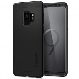 """""""Spigen"""" Thin Fit 360 futrālis - melns + ekrāna aizsargstikls (Galaxy S9)"""