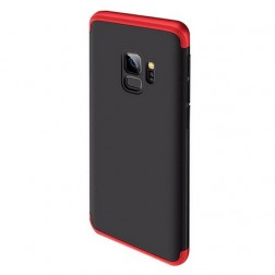 "Thin Fit 360""  futrālis - melns / sarkans (Galaxy S9)"