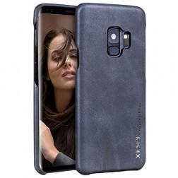 """""""X-Level"""" Vintage ādas apvalks - melns (Galaxy S9)"""