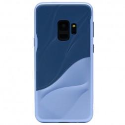 """""""3D"""" Wave Pattern apvalks - zils (Galaxy S9)"""
