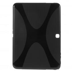 Cieta silikona (TPU) apvalks - melns (Galaxy Tab 4 10.1)