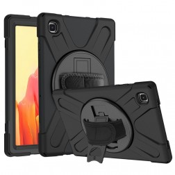 Pastiprinātas aizsardzības (360°) apvalks - melns (Galaxy Tab A7 10.4 2020)