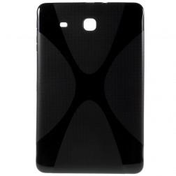 Cieta silikona (TPU) apvalks - melns (Galaxy Tab E 9.6)