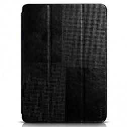 """""""HOCO"""" Crystal atvēramais ādas futrālis - melns (Galaxy Tab S 10.5)"""